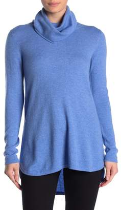 Kinross Cowl Neck Pleat Back Cashmere Tunic