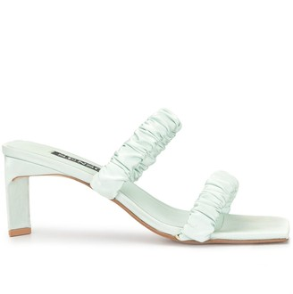 Senso Luna satin ruched sandals