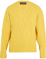 Neil Barrett Crew-neck cable-knit wool sweater
