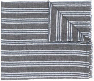 Brunello Cucinelli Detail Striped Scarf
