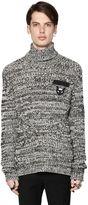 N°21 Heathered Wool Rib Knit Sweater