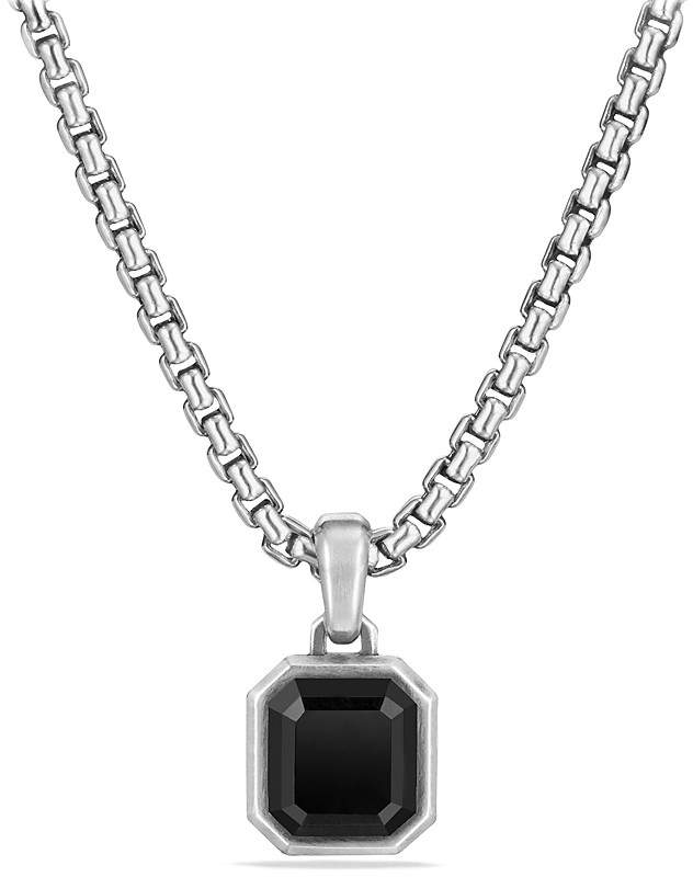 David Yurman Petrvs Emerald Cut Amulet with Black Onyx