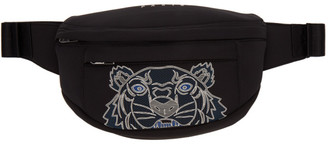 Kenzo Black Neoprene Tiger Bum Bag