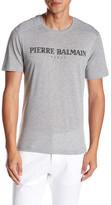 Pierre Balmain Pleated Shoulder Logo Tee