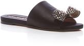 Rochas Embellished Satin Sandal