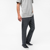 Paul Smith Men's Charcoal Grey Crosshatch-Textured Red Ear Trousers