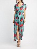 Charlotte Russe Floral Maxi Wrap Dress