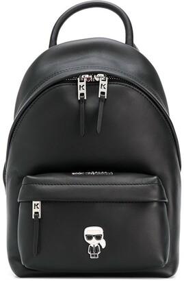 Karl Lagerfeld Paris K/Ikonik metal logo backpack