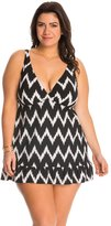 LaBlanca La Blanca Plus Size Night Waves Skirted One Piece Swimsuit 8141540