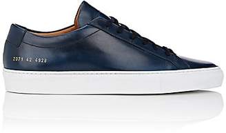 Common Projects Men's BNY Sole Series: Men's Achilles Leather Sneakers - Navy