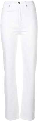 Eve Denim High Waisted Straight Leg Jeans
