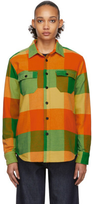 Noah NYC Yellow Big Check Flannel CPO Shirt