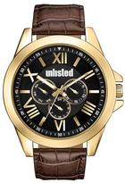 Unlisted- A Kenneth Cole Production Gold Watch with Brown Strap and Black Face