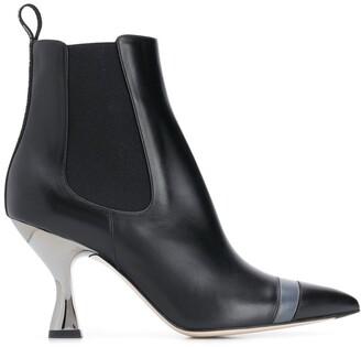 Fendi Colibri pointed toe ankle boots