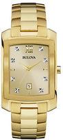 Bulova Diamond-Accented Goldtone Stainless Steel Bracelet Watch, 97D107
