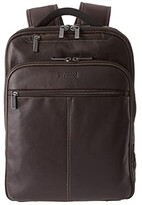 Kenneth Cole Reaction Back-Stage Access Colombian Leather Computer Backpack (Brown) Backpack Bags