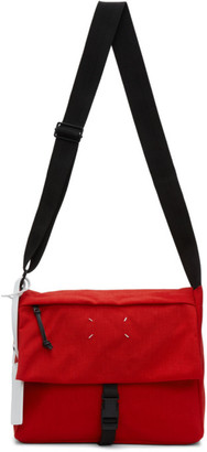 Maison Margiela Red 4-Stitches Flap Crossbody Bag