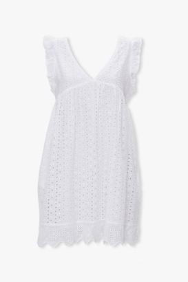 Forever 21 Eyelet Mini Babydoll Dress