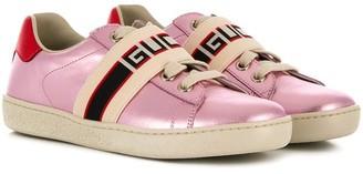 Gucci Kids Gucci stripe Ace sneakers