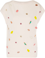 Stella McCartney Crystal and stone-embellished top