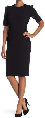 Donna Morgan Elbow Sleeve Sheath Dress