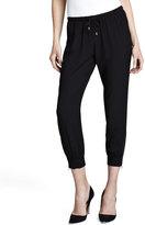 Splendid Zipper-Cuff Drawstring Pants