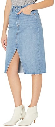 Levi's(r) Premium Deconstructed Split Skirt (Go Overboard) Women's Skirt