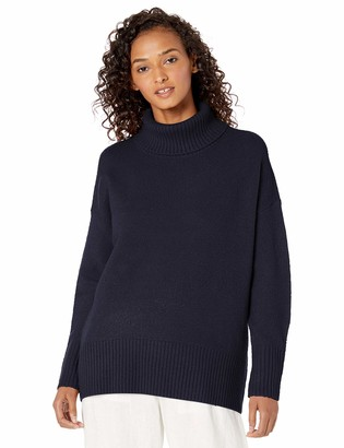 Daily Ritual Cozy Boucle Turtleneck Sweater Olive S