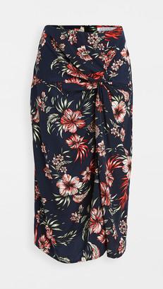 Stateside Hawaiian Floral Print Twist Skirt