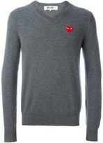 Comme des Garcons embroidered heart jumper - men - Wool - L