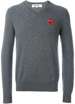 Comme des Garcons embroidered heart jumper