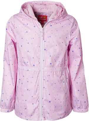 Pink Platinum Girls' Anoraks & Parkas PINK - Pink & Lavender Star Anorak - Toddler & Girls