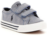 Polo Ralph Lauren Boy's Slater EZ Chambray Denim Sneakers