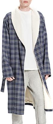 UGG Men's Kalib Fleece-Lined Plaid Robe