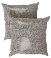Dransfield and Ross Snakeskin-Printed Chain-Link Pillows