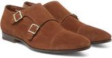 Santoni - Suede Monk-strap Shoes