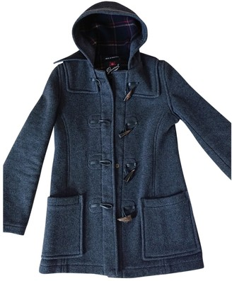 Gloverall Anthracite Wool Coat for Women