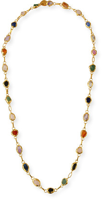 Devon Leigh Multi-Stone Bezel Necklace
