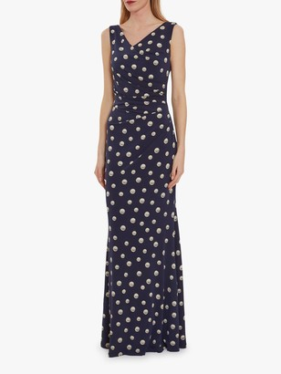 Gina Bacconi Perdita Wrap Maxi Dress, Navy
