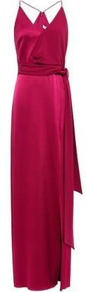 Halston Satin-crepe Gown