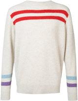 The Elder Statesman cashmere striped jumper - unisex - Cashmere - M