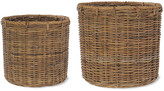 Garden Trading - Round Log Baskets with Rope - Set of 2