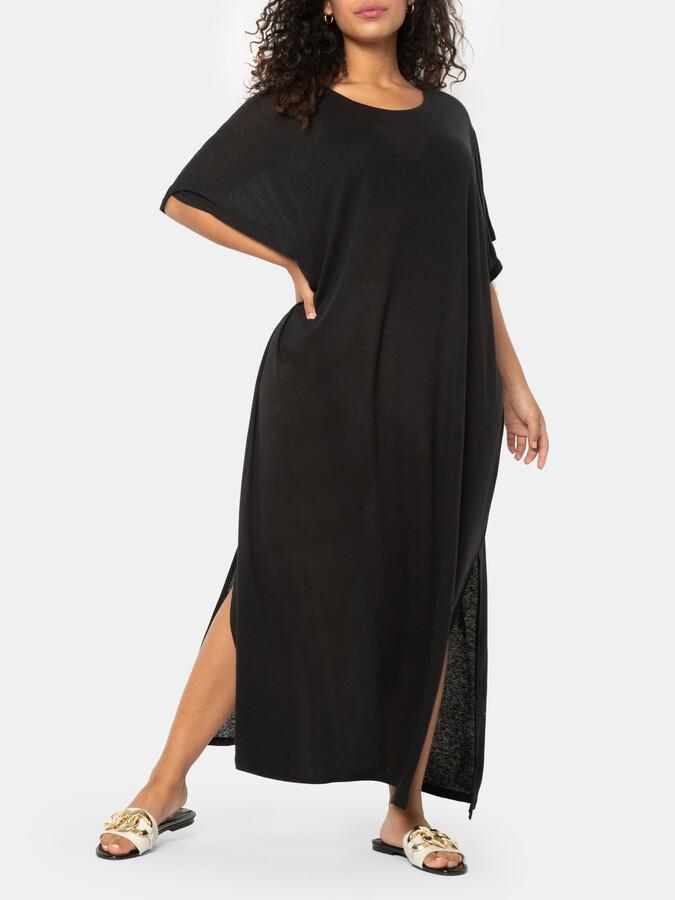 ELOQUII Tie Back Soft Dress