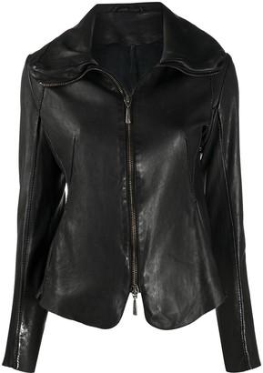Masnada Zipped Leather Jacket