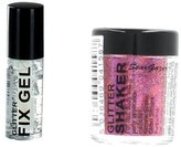 Stargazer Loose Glitter Shaker for Hair& Body with Glitter Fix Gel /Glue