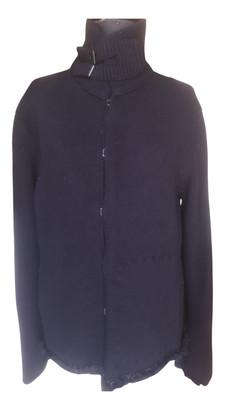 Saint Laurent Black Wool Knitwear