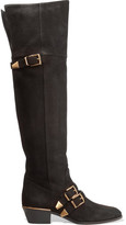 Chloé Susanna Textured-leather Over-the-knee Boots - Black