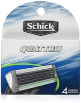 Schick Quattro Razor Blade Refills for Men Value Pack - 4 Count
