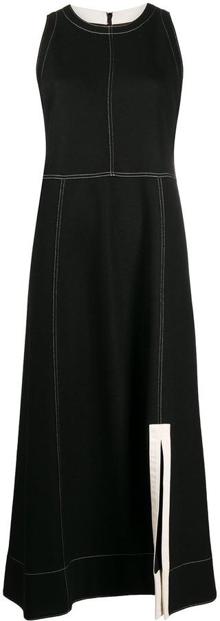 Jil Sander Contrast Stitching Midi Dress