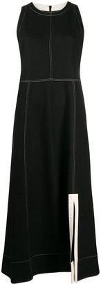 Jil Sander Contrast Stitching Midi Dress